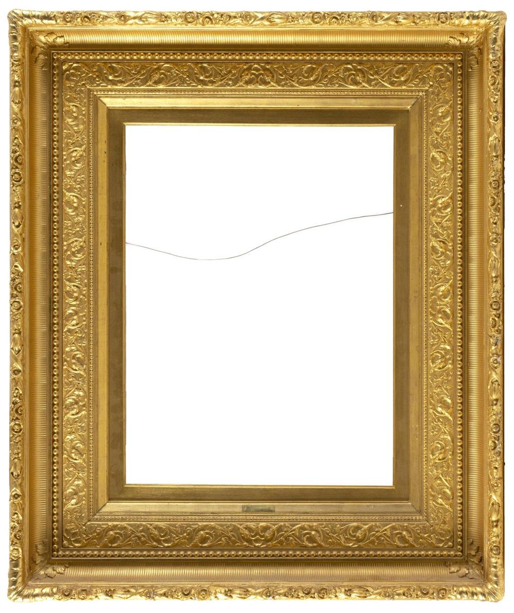 HUDSON RIVER SCHOOL PICTURE FRAME Classic fluted cove frame with raised foliate molded edge. 32