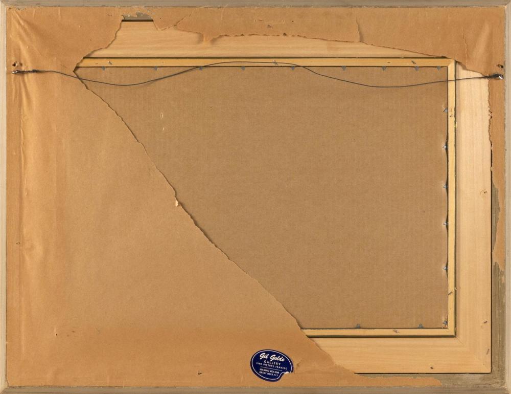 JOSEPH KAPLAN, New York/Massachusetts/Russian Federation, 1900-1982, Pier scene., Gouache, 15