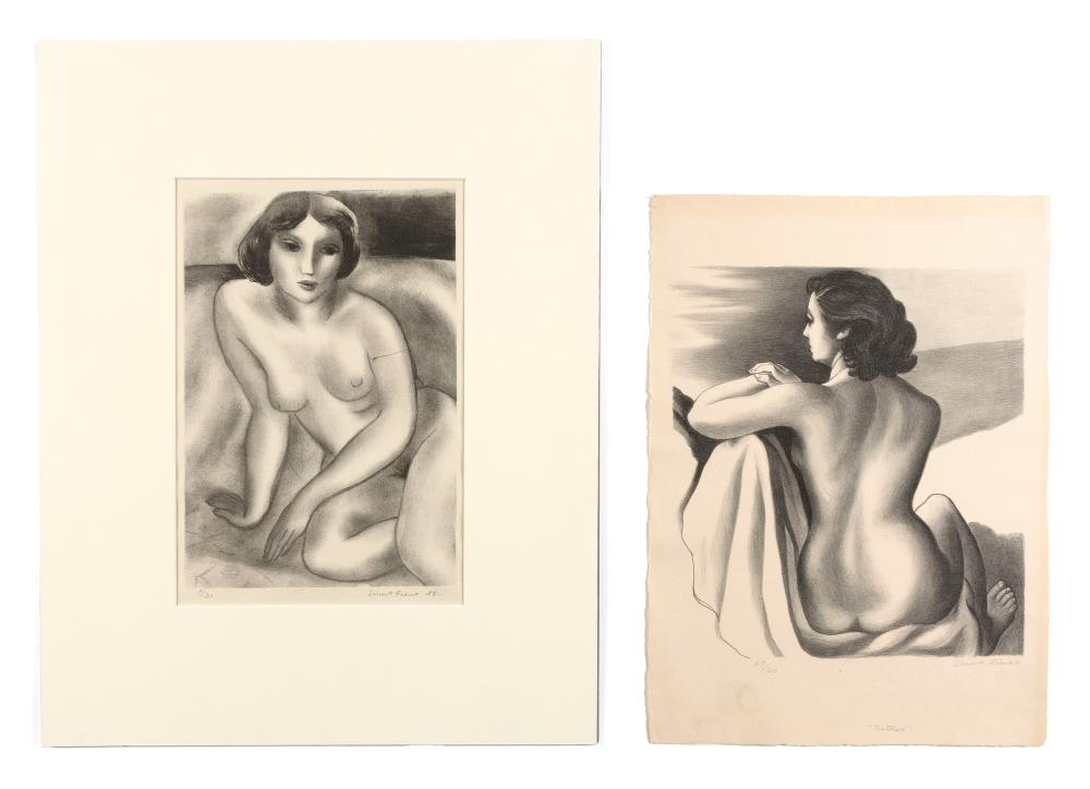 ERNEST FIENE, New York/Germany, 1894-1965, Two unframed lithographs of female nudes:
