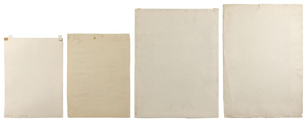 ERNEST FIENE, New York/Germany, 1894-1965, Four unframed lithographs on paper: