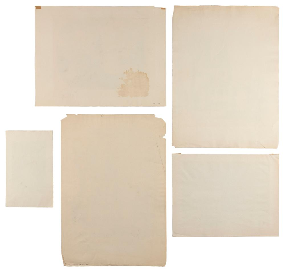 ERNEST FIENE, New York/Germany, 1894-1965, Five unframed lithographs on paper: