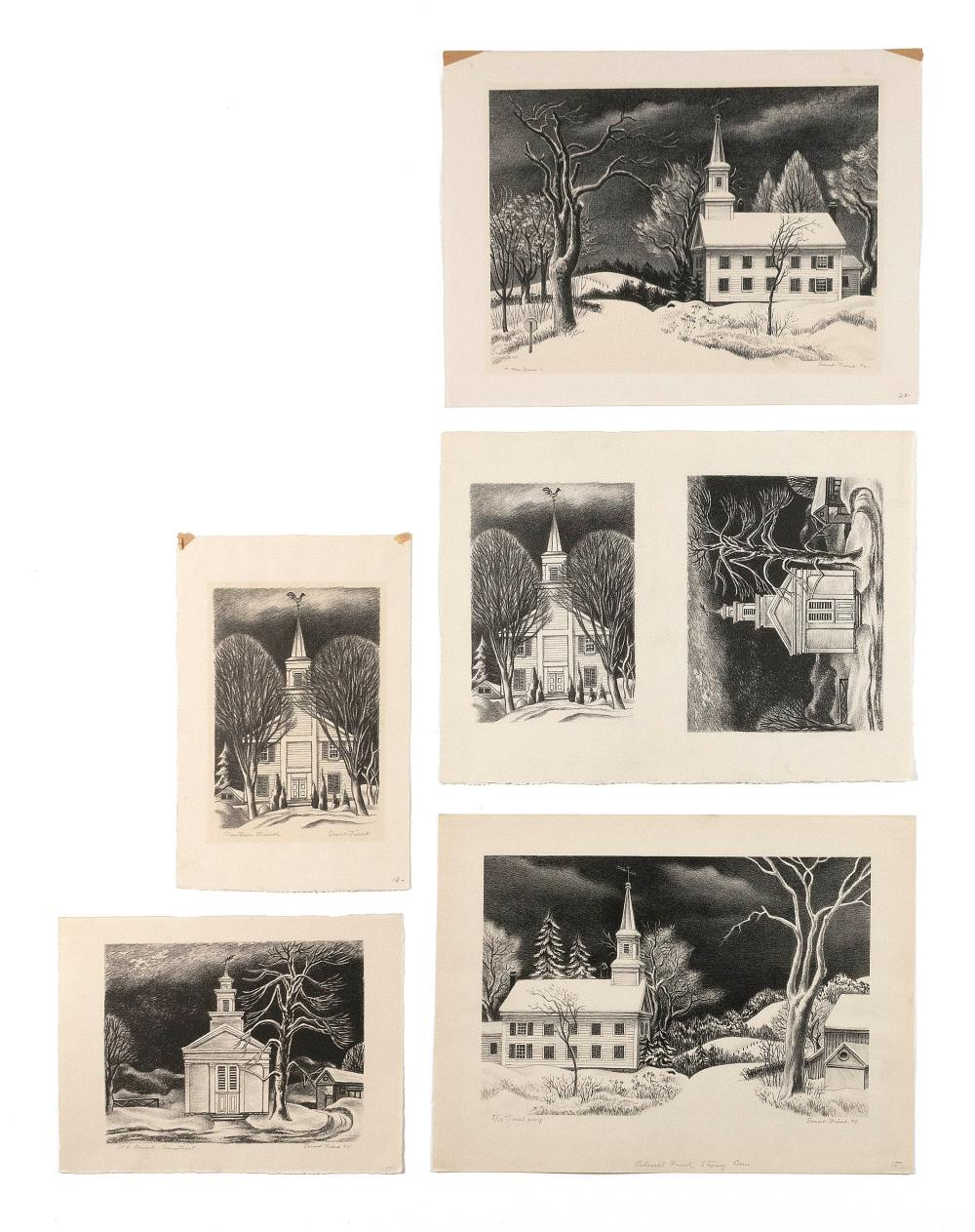 ERNEST FIENE, New York/Germany, 1894-1965, Six unframed lithographs on paper: