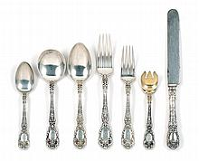 PARTIAL STERLING SILVER FLATWARE SET BY GORHAM MFG. CO. In the