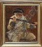 "JOSEF JUNGWIRTH, Austrian, 1869-1950, Portrait of a soldier., Oil on board, 11"" x 9¾"". Framed."
