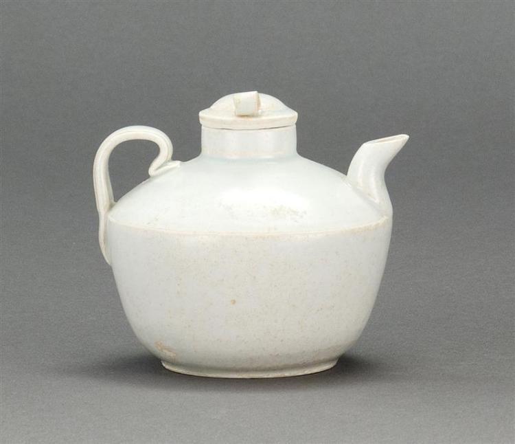 "QINGBAI PORCELAIN WINE EWER In ovoid form. Length 3.8"" (9.7 cm)."