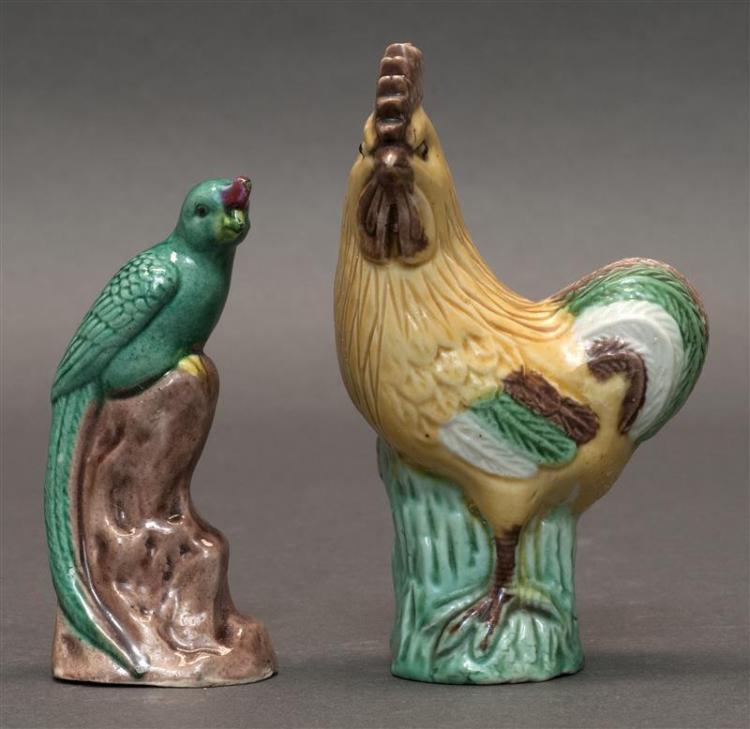 SEVEN SANCAI POTTERY BIRD FIGURES A 4