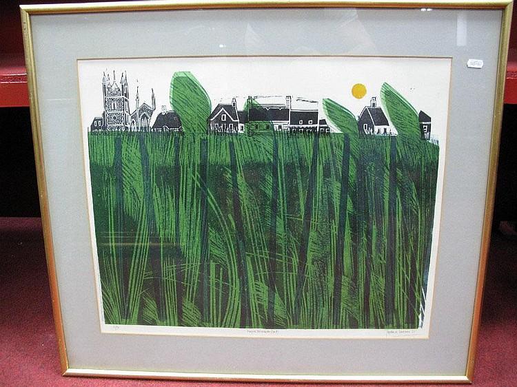 * ROBERT TAVENER (1920-2004) Norfolk Reedbeds (