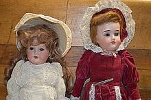 2 Victorain Bisque Head Dolls