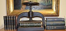 Iron Book Press w/ Books