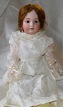 Victorian Bisque Head Doll w/Pearl Earrings