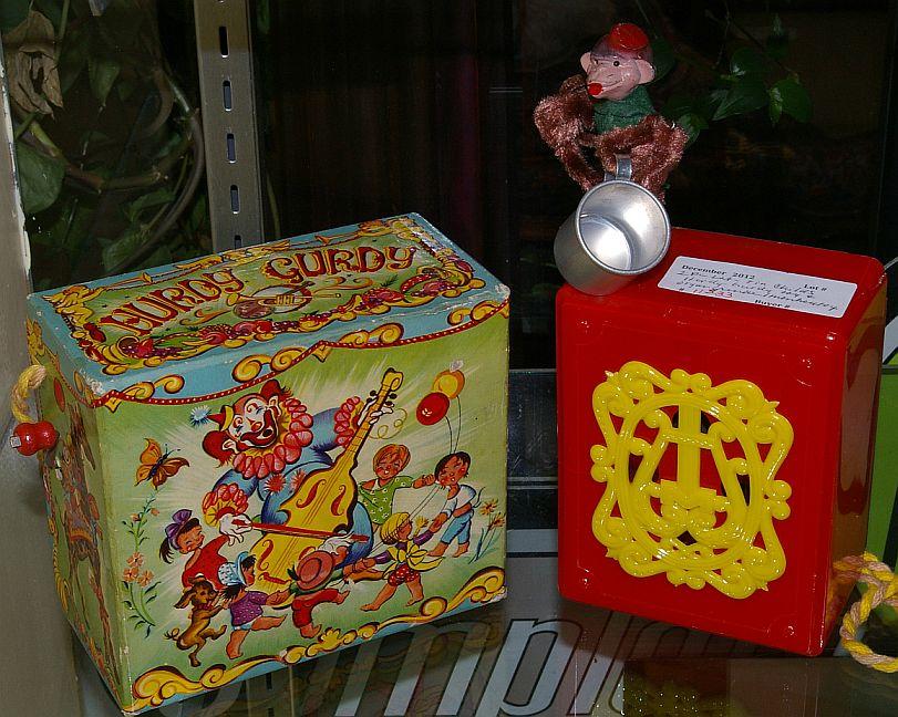 2 Pc. Vintage Toy Hurdy Gurdy's