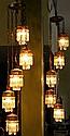 Pr. Vintage Five Hanging Light w/Prisms