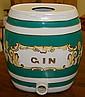 1840's English Gin Pub Cask/Green