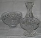 3 Pc. Waterford Crystal Bowl/Water Decanter