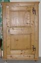 One Door Pine Armoire w/ Hand Wrought Hinges