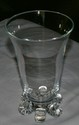 Steuben Art Glass Crystsal Vase w/ Elephant Toes