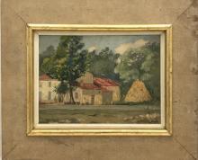 FURT Pierre-Léonce (1870-?) - La ferme - Huile sur panneau. Signée en bas à