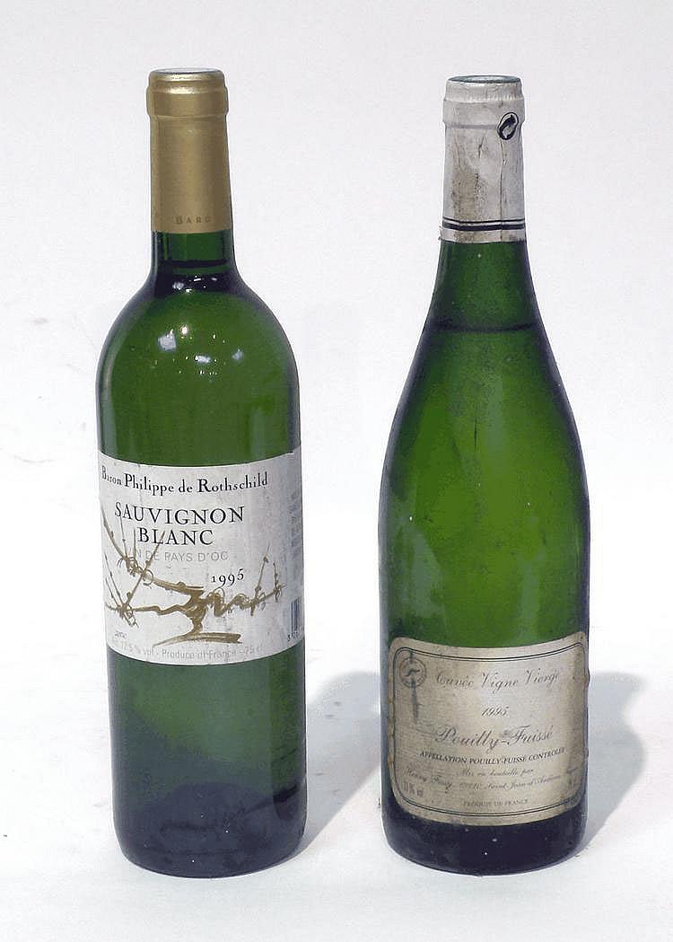 Lot de 10 Bouteilles comprenant : 6 Bouteilles de SAUVIGNON, Baron Philippe de Rothschild