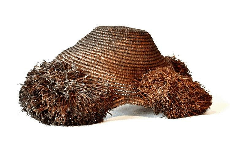 RDC,  KUBA. Chapeau de chef. Fibres  25 cm