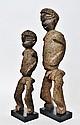 Important et grand couple Bateba Phuwe du Maître des Nez Crochus - Lobi -  Burki