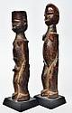Couple - Lobi -  Burkina Faso  Bois à patine d'usage, brun foncé et très brillan