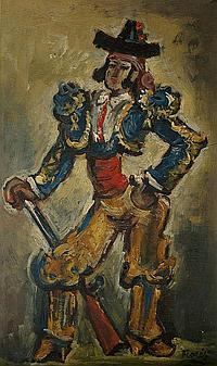 Pedro FLORES (1897-1967) . Le fier Hidalgo.