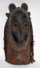 masque Gouro (RCI), magnifique travail d'art africain contemporain, 34 cm