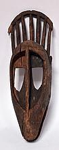 Masque Bambara, Mali, masque du N'Tomo, bois dur érodé, (voir  136) 55 cm