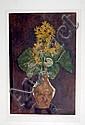 George BRAQUE. Bouquet aux asters. Lithographie. Signée dans la planche et signé