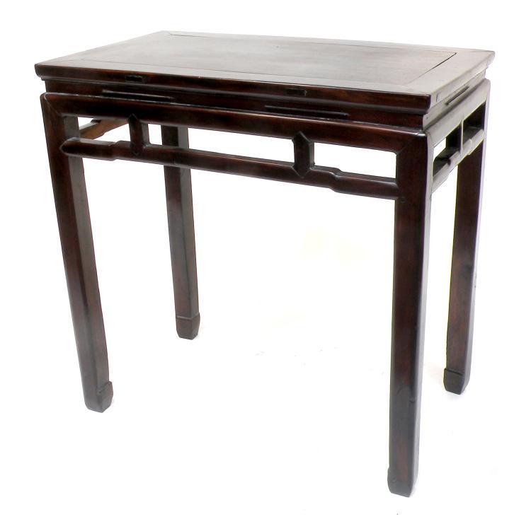 Console dite table vin tiaozhu en bois xixe 88 x 89 x - Table console extensible en bois ...