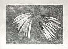 Hans HARTUNG (1904-1989) Composition grise. Lithographie signée en bas à droite