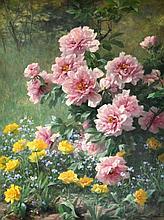 Louis Marie LEMAIRE (1824-1910) Bosquet fleuri. Huile sur toile signée en bas à