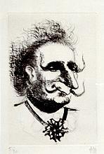 TIM (1919-2002) Caricature de georges Pompidou. Eau-forte signée en bas à droite