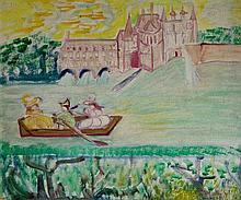 Isaac MINTCHINE (1900-1941) Promenade sur la rivière, mon amour pour la France.