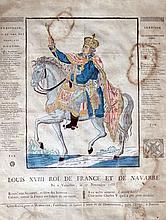 Ecole française époque Restauration. Louis XVIII Roi de France et de Navarre. Gr