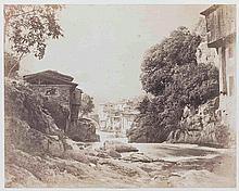 André GIROUX (1801-1879). Tanneries près Clermont. (Puy-de-Dôme). Vers 1855. Épr