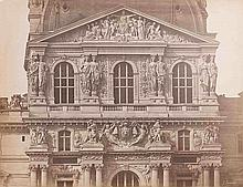 Édouard-Denis BALDUS (1813-1889). Le Louvre, pavillon Richelieu. Paris. 1853. Ép