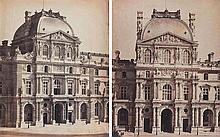 Gustave LE GRAY (1820-1884). Pavillon Richelieu , Pavillon Sully. Palais du Louv