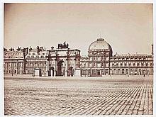 Gustave LE GRAY (1820-1884). Carrousel du Louvre et palais des Tuileries. Paris.