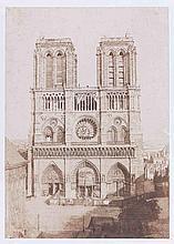 Charles NÈGRE (1820-1880). Notre-Dame de Paris, façade occidentale pendant les t