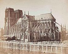 Gustave LE GRAY (1820-1884). Notre-Dame de Paris. Paris. 1859. Épreuve sur papie