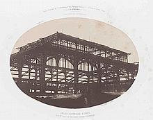 Louis Alphonse POITEVIN (1819-1882). Halle centrale à Paris. 1856. Épreuve d'épo