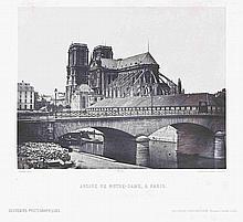 Alphonse FORTIER (1825-1882). Abside de Notre-Dame , Le pavillon de l'horloge au