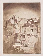 Hippolyte BAYARD [Attribué à] (1801-1887). Toits de Paris vers les moulins de Mo
