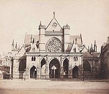 Gustave LE GRAY (1820-1884). Saint-Germain-l'Auxerrois, vue générale. Paris. 185