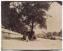 Eugène ATGET (1857-1927). Port du Louvre. Paris 1er. 1899. Épreuve d'époque sur
