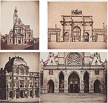 Gustave LE GRAY (1820-1884). Saint-Étienne du Mont , Saint-Germain-l'Auxerrois ,