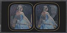 Alexis GOÜIN (New-York 1799/1800-Paris 1855). La robe bleue et or : modèle en te