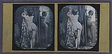 Louis Jules DUBOSCQ-SOLEIL [Attribué à] (1817-1886). Nu au miroir. 1851-1852. Da