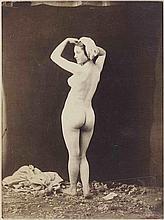 Félix-Jacques Antoine MOULIN (1802-1875). Nu debout de dos bras levés. 1852. Épr